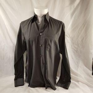 Mens Banana Republic Dress Shirt Gray Medium